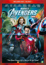 The Avengers (Blu-ray/DVD, 2012, 2-Disc Set) In DVD Case EC Flawless Inserts