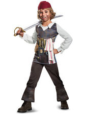 Captain Jack Sparrow Classic Pirates of The Caribbean Disney Boys Costume