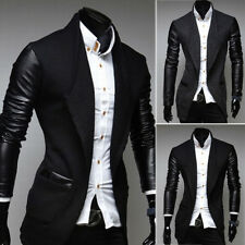 Men's Trench Coat Jackets Casual Outwear Long Slim Fit Single Breasted