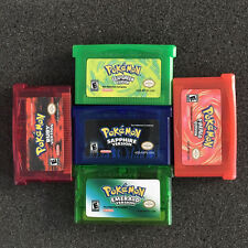 1/5PCS Nintendo Game Cards For GBM/GBA/SP/NDS Emerald Sapphire Ruby Red Green