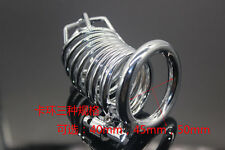 Men Stainless Steel Male Chastity Device Ring Cage Lockable Bondage Lock Ring