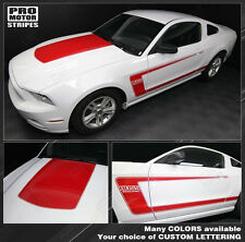 Ford Mustang BOSS 302 Style Hood & Side Stripes Decals 2010 2011 2012 2013 2014
