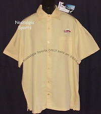 FLW Outdoors SHIRT Tournament Gear Short-SLEEVE Button RAYON SEWNLogo Yellow NWT
