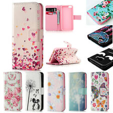 Flip Wallet PU Leather Case Pattern Kickstand Cover Skin For Apple iPhone 5 6 S