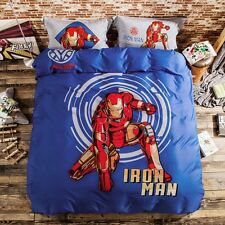 NEW Disney Iron Man Hero Printed Bedding Bedspreads Bed Cover Set Single Twin