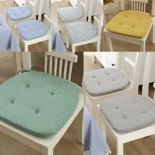 Minimalist Dining Chair Cushion Seat Mat Chair Pads Tie On for Dining Room