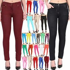 New Ladies Skinny Leggings Jeggings Womens Coloured Stretchy Jeans Trouser S-7XL