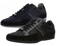 Hugo Boss Mens Casual Oxfords Leather & Textile Sneakers Spacit 50247632 Black