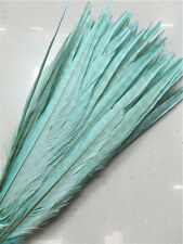 Beautiful! 10-100pcs Blue-green natural pheasant tail feathers 16-18inch/40-45cm