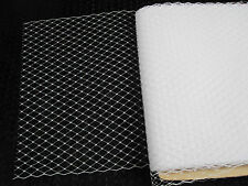 "9""x 1meter IVORY french net millinery veiling net MAKE YOUR OWN BIRDCAGE VEIL!"