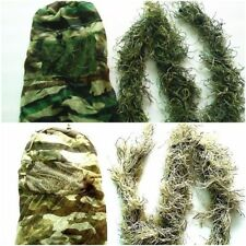 Hunting Grass Hood Cap Headvie + Rifle Wrap Rope Sniper Camouflage Ghillie Suit