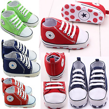 Newborn to 3-18 Months Infant Toddler Baby Boy Girl Soft Sole Crib Shoes Sneaker