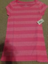 aeropostale kids ps girls' Striped Core tee shirt  knockout pink NWT