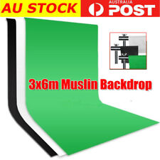 3 Color Screen Photography Studio Video Muslin Backdrop Photo 3X6M Background