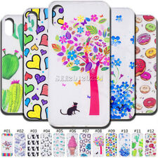 Rubber TPU Silicone Shockproof Soft Back Skin Case Protective Cover For Apple