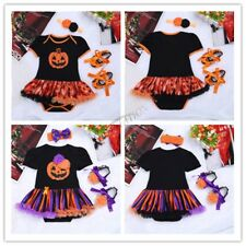 3Pcs Baby Girls Fairy Halloween Costume Outfits Romper Party Fancy Dress Up