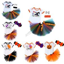Halloween Newborn Baby Girl Headband Romper Skirt Tutu Bodysuit Outfit Clothing