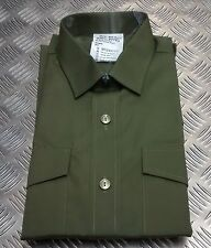 Genuine British ARMY General Service Long Sleeve Shirt Olive Green - Brand New