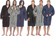 Mens Luxury 100% Cotton Soft Terry Cloth Bath Spa Robe Towelling Dressing Gown