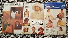 Vogue Out of Print Accessories Patterns FF UNCUT Hats Purses Bags Cuffs Collars