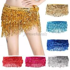 Fashion Belly Dance Waist Chain Hip Skirt Scarf with Sequins Tassel