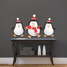 Christmas Penguins Wall Decals Christmas Party Wall And Window Decorations, h67