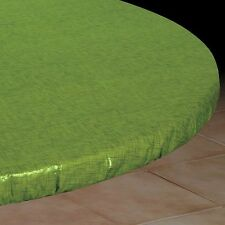 Vinyl Fitted Table Cover GREEN Elasticized Square SM MED LG Round Oval Oblong  ~