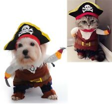 Pet Costume Dog Cat Suit Uniform Clothes Cosplay Party Halloween Pirate Clothing