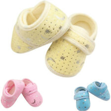 Infants Boys Girls Shoes Cotton Crib Shoes Star Print Prewalker New Baby Shoes