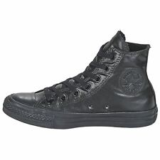 Converse Chuck Taylor All Star Hi Black Womens Canvas Metallic Hi-top Trainers