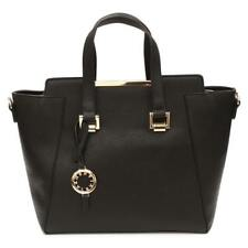 Suzy Levian Saffiano Faux Leather Satchel Handbag Bag
