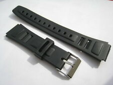 Ventented Black Rubber/Plastic watch strap. Steel fittings. From UK