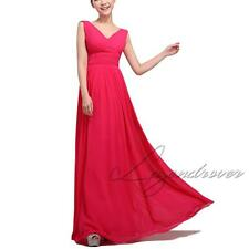 Womens Formal Long Evening Ball Gown Party Prom Bridesmaid Dress Stock Size 6-14