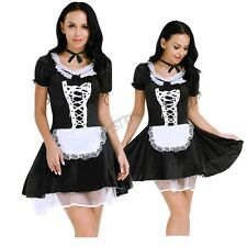 Women's Lingerie Sets Maid Mini Dress Uniform Outfit Costume Halloween Cosplay