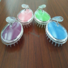 UK Silicone Scalp Shampoo Massage Brush Washing Massager Shower Head Hair Comb