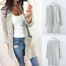Autumn Long Cardigan Sweater Winter Plus Size Knitted Poncho Gray Women Sweaters
