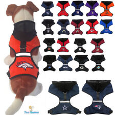 NFL Fan Gear Dog Harness with Hood for Pets Dogs Puppy - ALL TEAMS - PICK YOURS