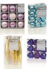 Christmas Tree Decorations Xmas Tree Baubles Glitter Gloss & Matt Various Shapes
