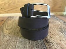 Mens Brown Waistband Suede Soft Genuine Real Leather Handmade Coffee Brown Belt