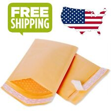 25/50/100 Kraft Bubble Mailers Padded Envelopes 4.5 x 8 inch and 6.5 x 10 inch