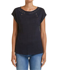 NEW JAG WOMENS Francine Embroidered Tee T-Shirts