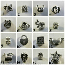 Silver Plated Charm Beads For European Charms Bracelets *Various Designs* #1