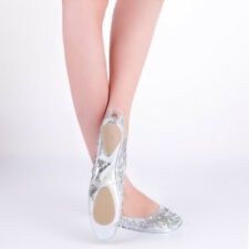Belly Dance Performance Shoes Training Shoes Practice Shoes Golden/Silver