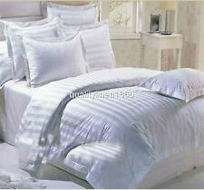 KING Clearance White Stripe Satin Quilt Duvet Doona Cover Set (500+QueenSoldOut)