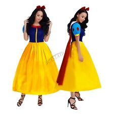 Women's Snow White Fancy Dress Fairy Tale Princess Queen Gown Halloween Costumes