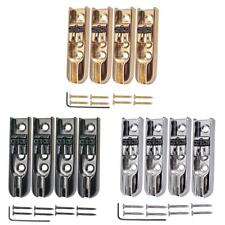 4 pieces Vintage Bass Bridge Accessories for 4 String Electric Bass Guitar