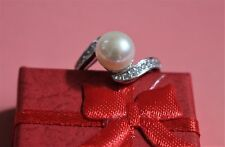 Natural Freshwater Pearl Ring, Gold Plated, Adjustable Size, Pearl Size 9-10mm
