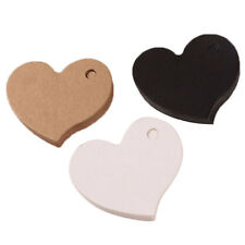 100pcs Heart Wedding Cards Kraft Paper Craft Favors Decorations Party Supplies