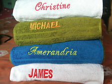 Personalised Towels / Face Cloths / personalised with yours or any name