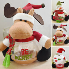 Christmas Xmas Candy Bottle Santa Claus Box Storage Jar Holder Gift Container